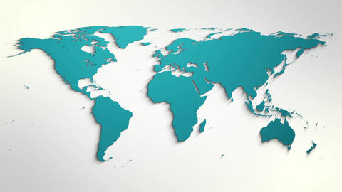 World Map Different Style Templates For Intro Logo Reveals And News Channels 0