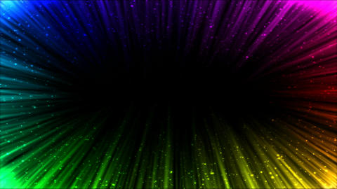 Colorful Light Ray Border Animation - Loop Rainbow Animation