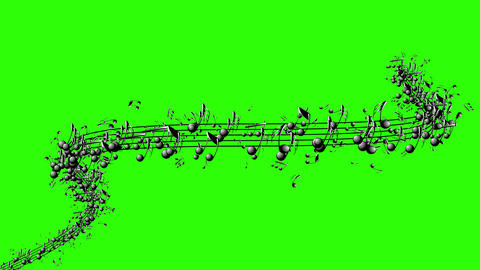 Animated background with musical notes Footage