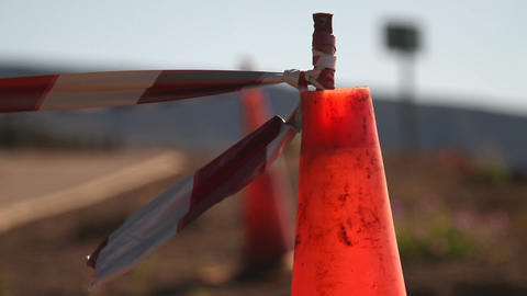 Traffic Cone stock footage