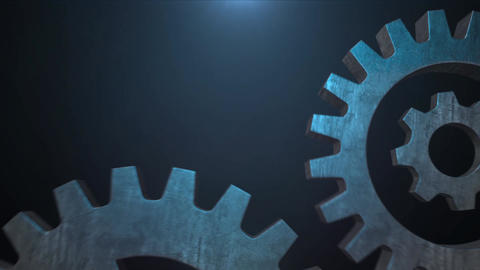 Mechanical Metal Rotating gear animation for intro and logo reveal - 1