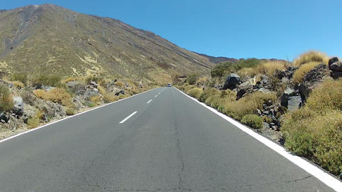 Driving in volcano landscape Footage