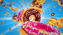 Donuts Rain stock footage