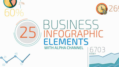 25 Business Infographic Elements After Effects Template