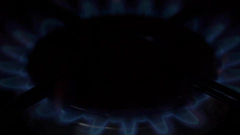 Gas stove burner lit/turn off Footage