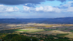 Clouds over Tuscany. Time Lapse Footage