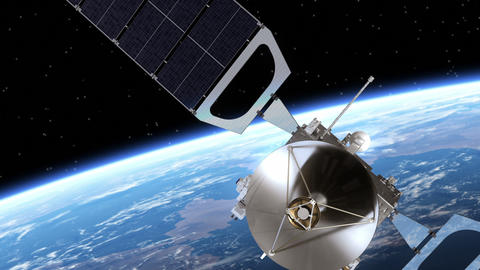Satellite Deploys Solar Panels Animation