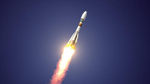 Heavy Carrier Rocket Takes Off stock footage