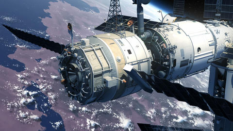 Spacecraft Docking To Space Station Animation