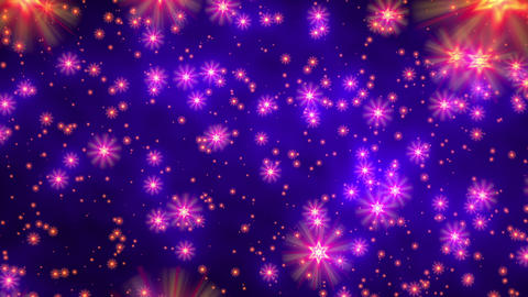 Blue purple david stars flight starfield background loop rotate left Animation