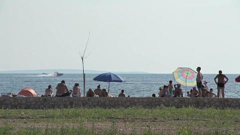 Seaside Beach Seaside Horizon Long Shot People 2 Live Action