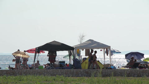 Seaside Beach Seaside Horizon Long Shot People 4 Live Action