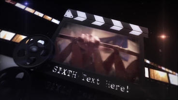 35mm Movie Clapper Cinematic intro After Effects Template