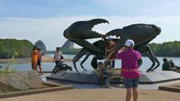 Tourists In Krabi, Thailand stock footage