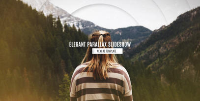 Elegant Parallax Slideshow stock footage