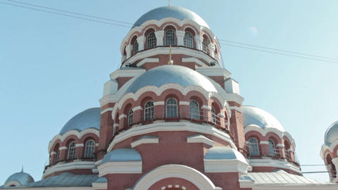 Spaso-Preobrazhensky Cathedral in the city of Nizhny Novgorod Footage