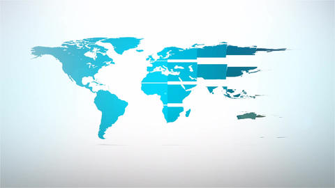 Folding of world map design element for intro ,presentation and graphic user int After Effects Template