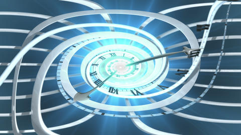 Looping Spiral clock invert Animation