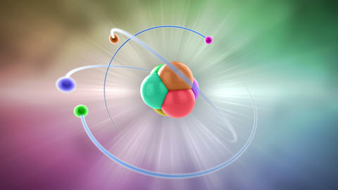 atom color Stock Video Footage