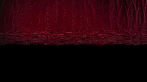 Red Austrian Curtain Falls/closing stock footage