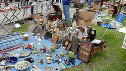 Antique market. Flea market 5 Footage