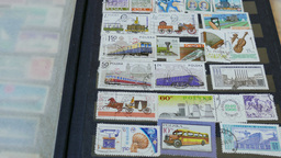 Watching an international stamp collection 5 Footage