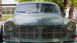 Vintage Volvo car. Volvo Amazon Footage