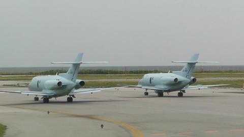 Okinawa Naha Airport 02 military planes Stock Video Footage