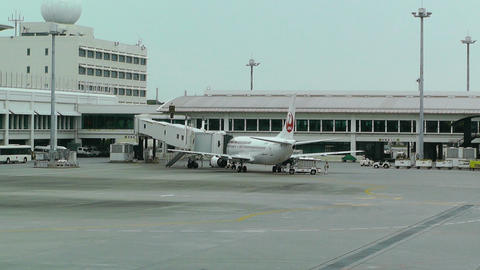 Okinawa Naha Airport 05 jal Stock Video Footage