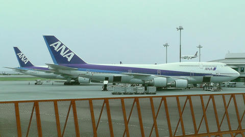 Okinawa Naha Airport 06 ana Stock Video Footage