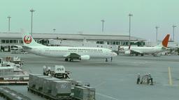Okinawa Naha Airport 10 jal Footage
