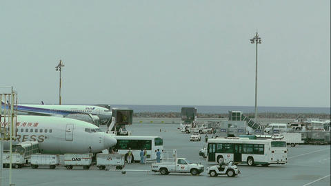 Okinawa Naha Airport 12 Stock Video Footage