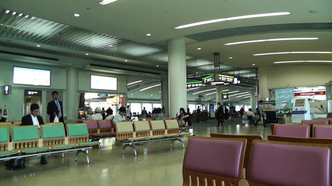 Okinawa Naha Airport Terminal 01 Stock Video Footage