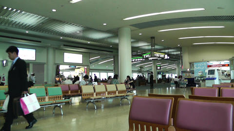 Okinawa Naha Airport Terminal 01 Stock Video Footage