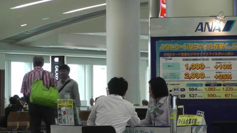 Okinawa Naha Airport Terminal 03 handheld Stock Video Footage