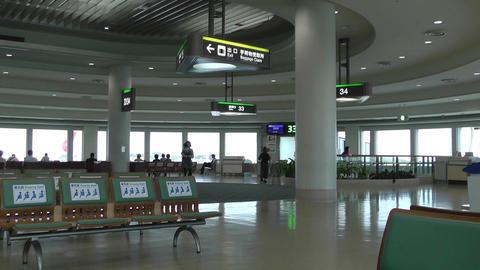 Okinawa Naha Airport Terminal 05 60fps native slowmotion Stock Video Footage