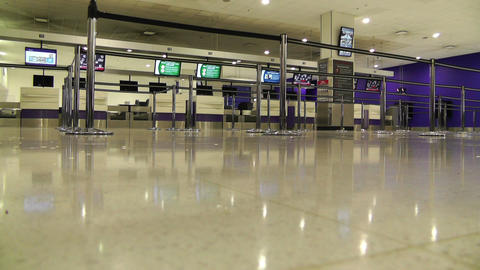 Sydney Kingsford Smith Airport Check In Counters 01 Stock Video Footage