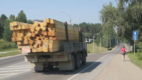 Divnogorsk Road Traffic Timelapse Stock Video Footage