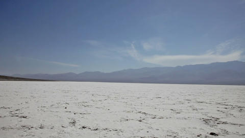 Background from salt in Death Valley, California Stock Video Footage