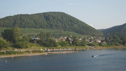 View on the coastline of the Mana river Stock Video Footage