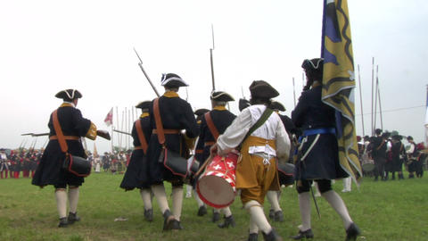 savoian french infantry battle 04 Stock Video Footage