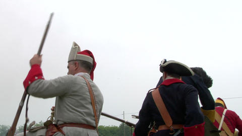 savoian french infantry battle 06 Stock Video Footage