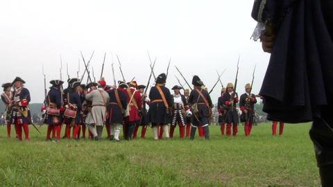 savoian french infantry battle 12 Stock Video Footage