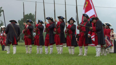 savoian infantry firing 05 Stock Video Footage