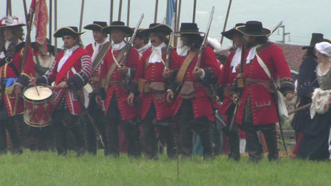 savoian infantry firing 11 Stock Video Footage