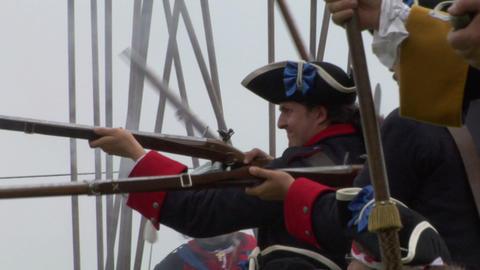 savoian royal guard battle 04 Stock Video Footage
