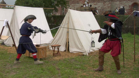 sword fight 01 Stock Video Footage