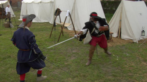 sword fight 03 Stock Video Footage