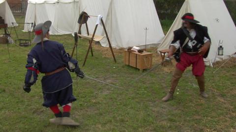sword fight 03 Stock Video Footage