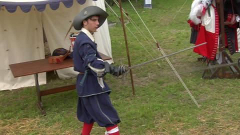 sword fight 05 Stock Video Footage
